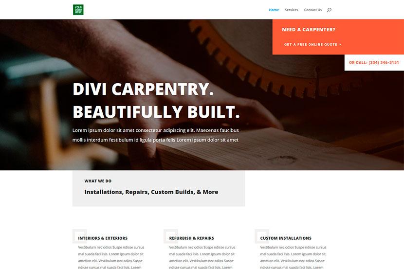 Web page business wordpress