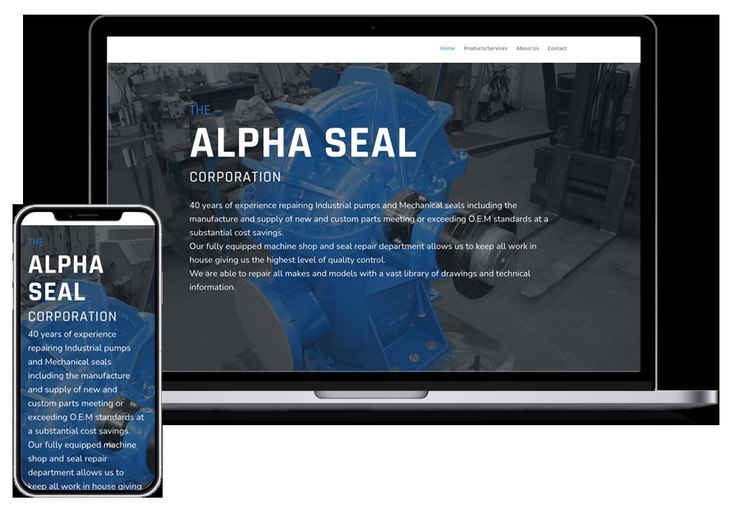 Alpha seal webpage